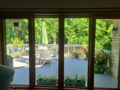 inside view of 4 windows
